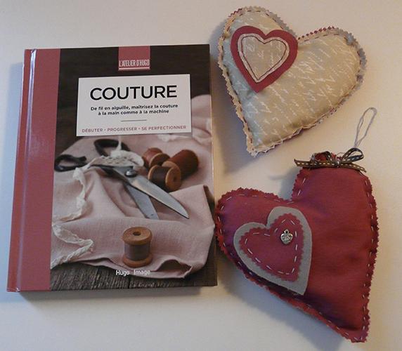 Livre Couture et Coeurs cousu à la main